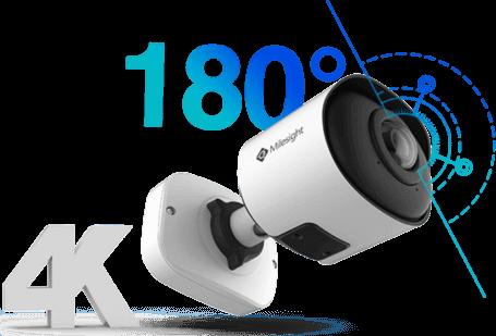 180° panoramic bullet camera, 180 ip camera