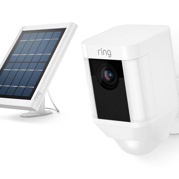 Ring Spotlight Solar Camera White