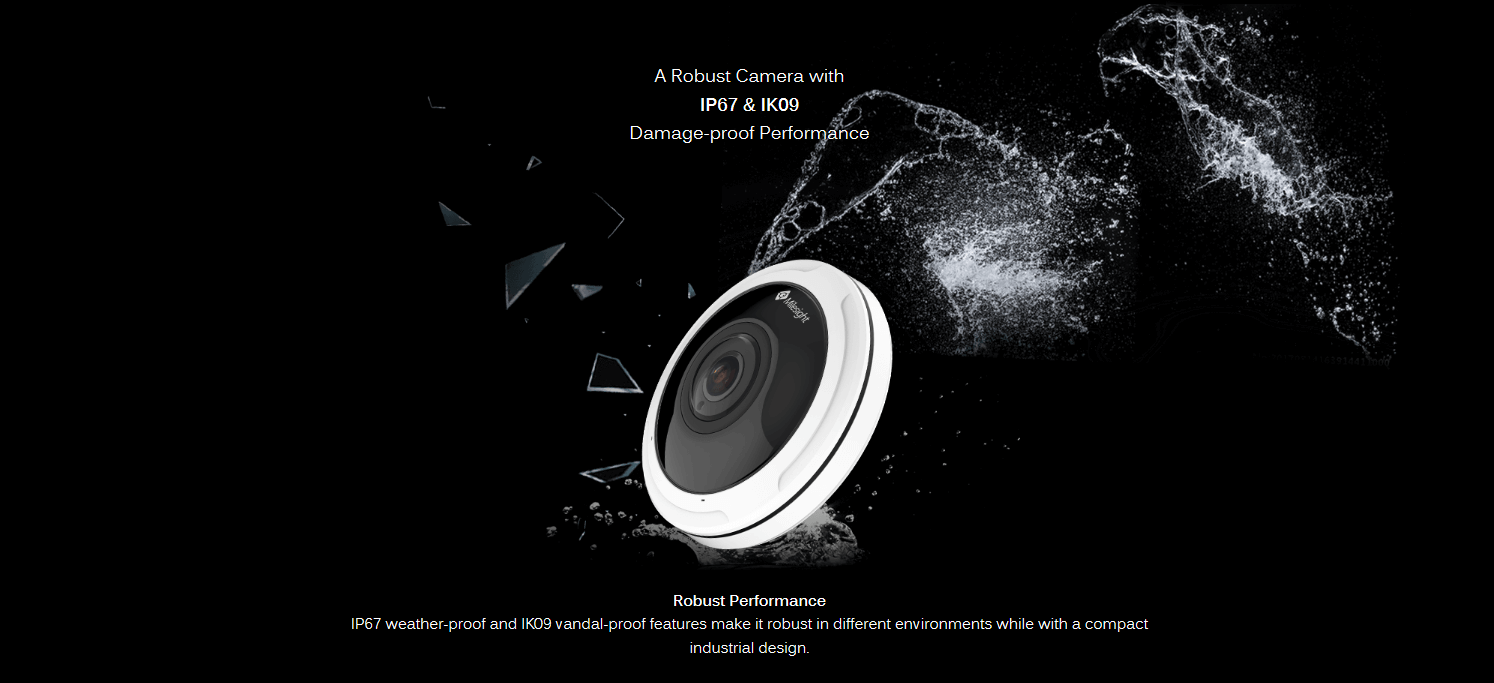 Milesight 12 MP Fish eye camera