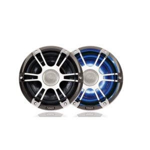 "6.5"" 230 WATT Coaxial Sports Chrome Marine Speaker with LED's"