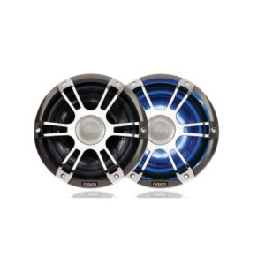 "7.7"" 280 WATT Coaxial Sports Chrome Marine Speaker with LED's"