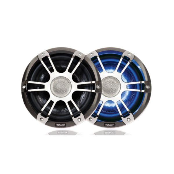 "8.8"" 330 WATT Coaxial Sports Chrome Marine Speaker with LED's"