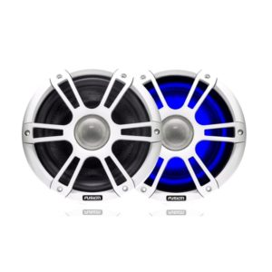 "8.8"" 330 WATT Coaxial Sports White Speaker LED's"