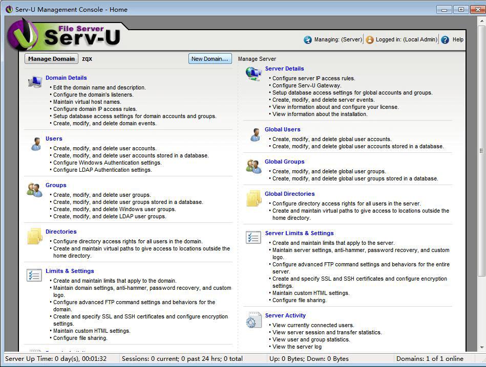 Serv-U software