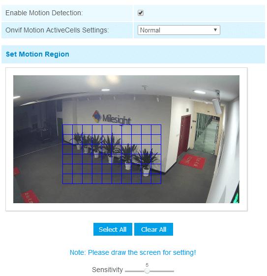 Set Motion Detection