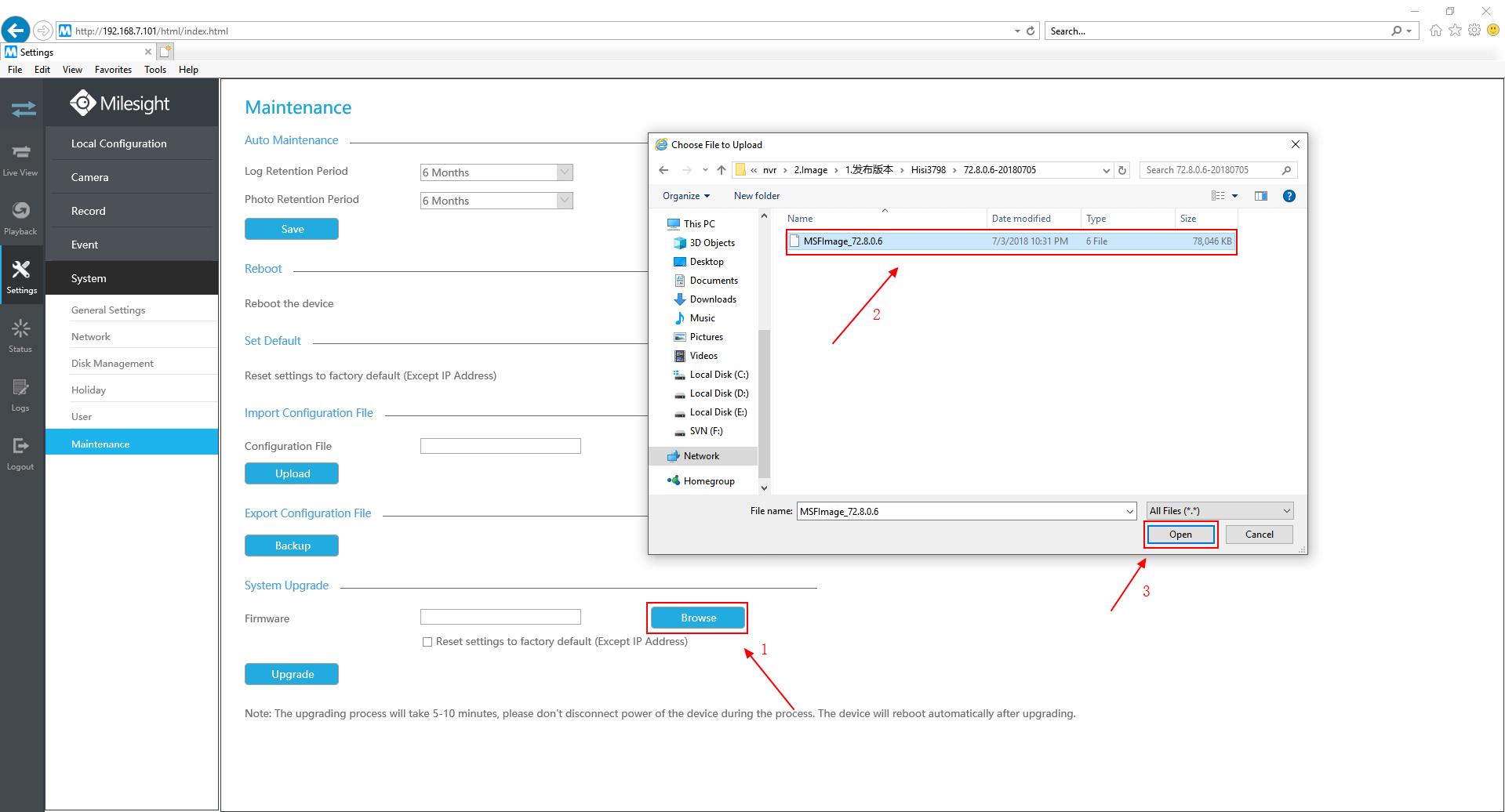 Upgrade on web