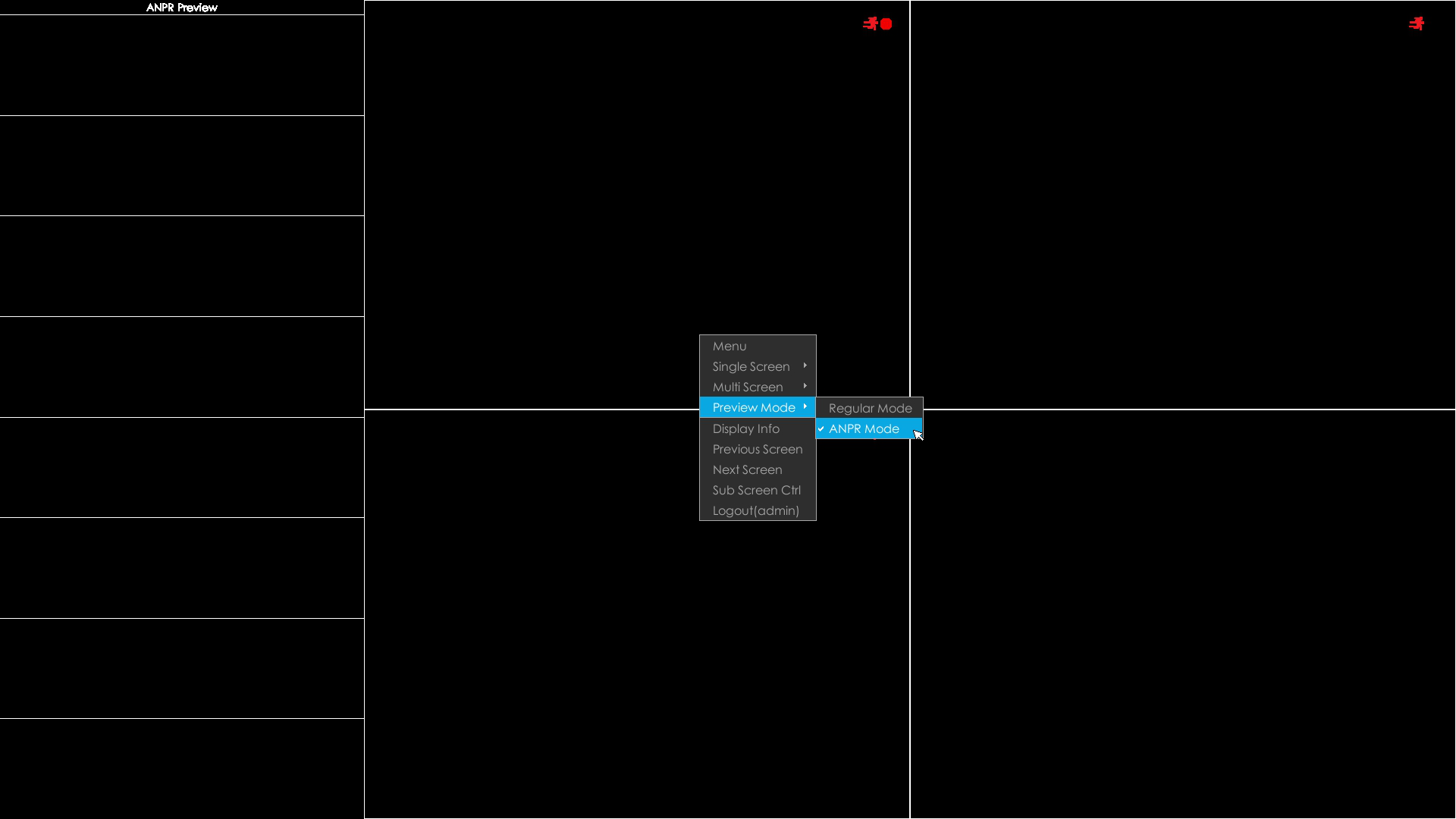 NVR QT viewing interface