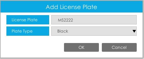 add license plates