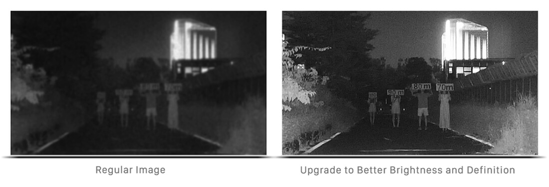 The comparison of the image of the regular IR and Smart IR II Technology.